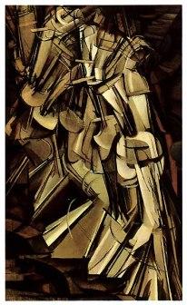 Marcel Duchamp, NU Descendo uma escada- 1912, Óleo em tela