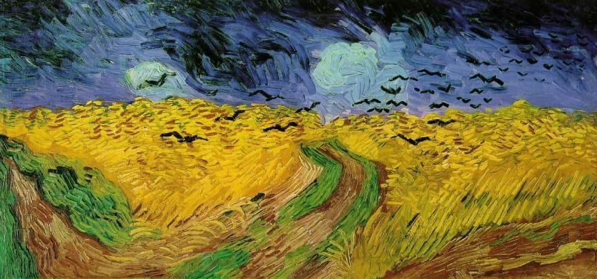 campo de trigo comcorvos