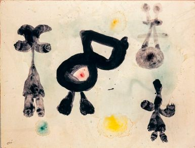 Joan Miró, Homem, mulher, pássaro, 1959.