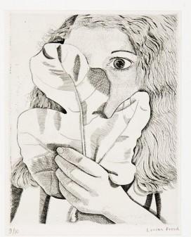 Girl with a Fig Leaf, Lucien Freud