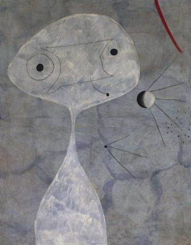 Juan Miro (1893-1983, Spain): Hombre con pipa