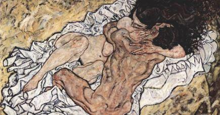 """""""O abraço"""" (1917), de Egon Schiele"""