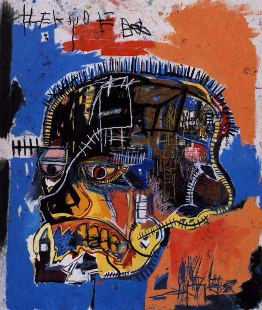 Jean-Michel Basquiat, Skull (caveira), 1981, crayon e acrílico sobre tela (207x175,9cm_wikiart.org)